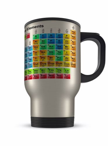 14oz Periodic Table of the Elements Novelty Gift Aluminium Travel Mug